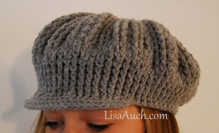 Free Crochet Hat Pattern For Ribbed Cute As A Button Adult Sized Hat