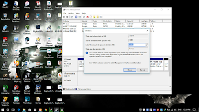 How to create partition in windows