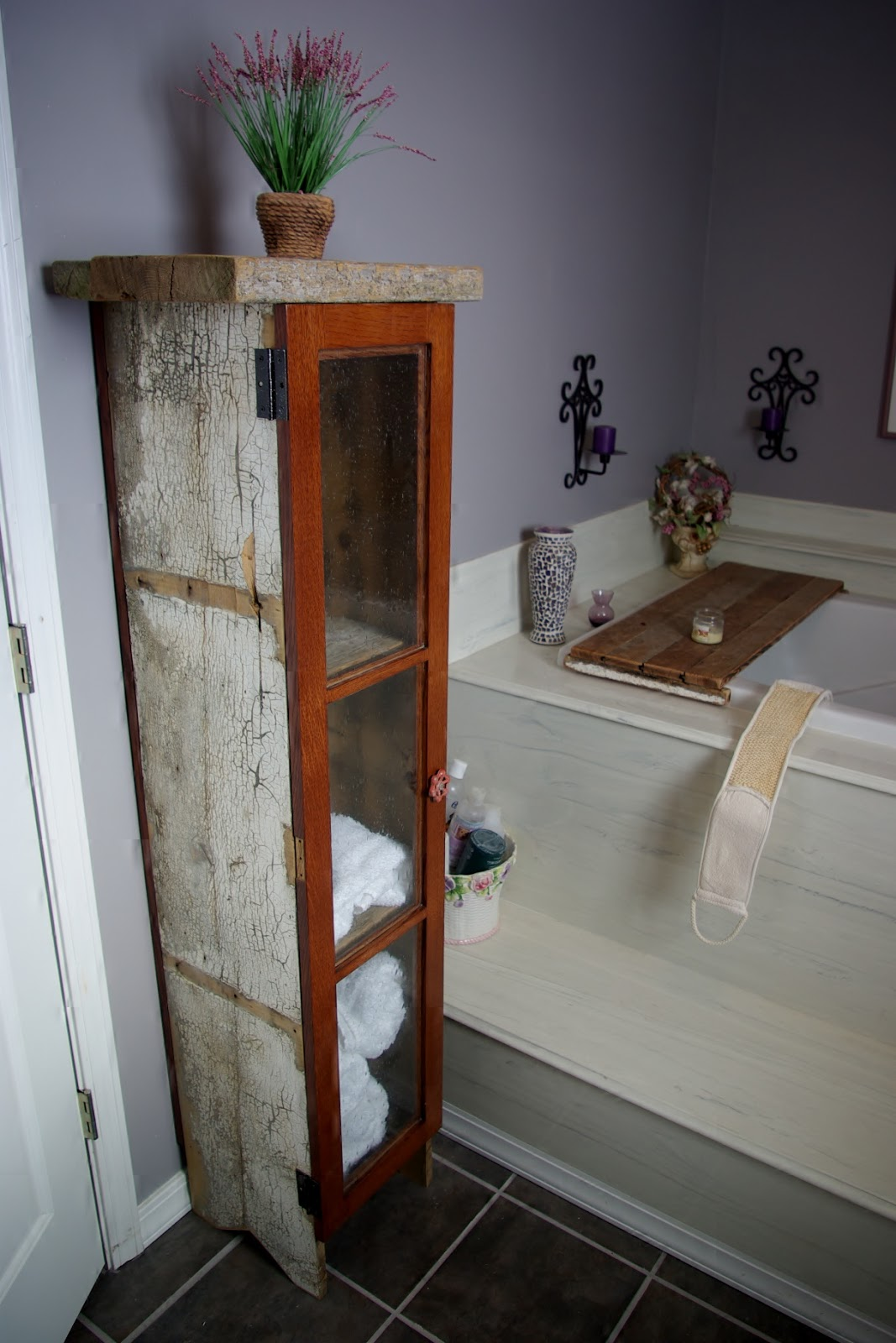 Reclaimed Rustics Rustic Barn Wood Bath Cabinet