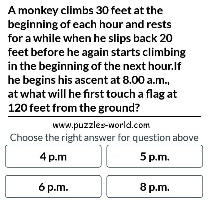 Monkey climbing puzzle