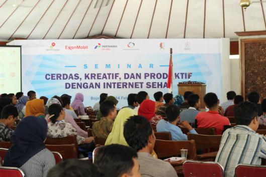 Beberapa sponsor Seminar Cerdas, Kreatif dan Produktif dengan Internet Sehat