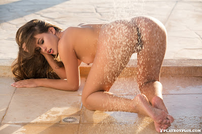 Playboy Demi Fray in Sun Shower Picture Set