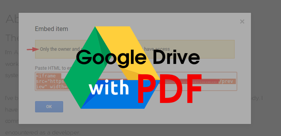 How to Embed PDF from Google Drive