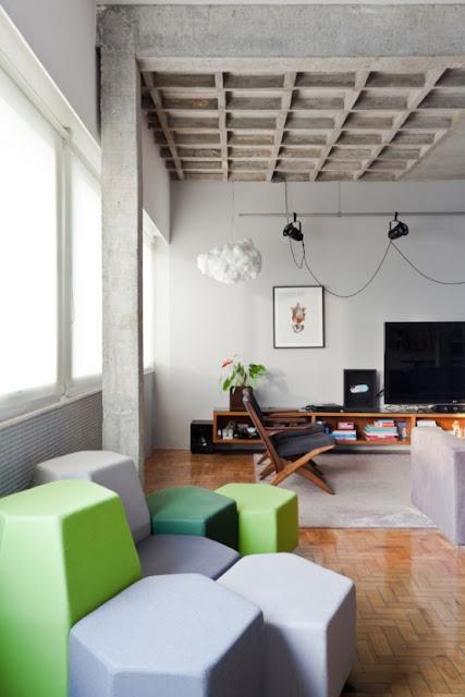 бетонные элементы в дизайне