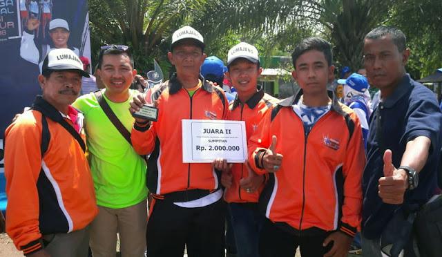 Atlet ostrad peraih piala di Pekan Olahraga Tradisional Jawa Timur