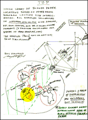 Burn't Paper Map, Socorro UFO Case 1964