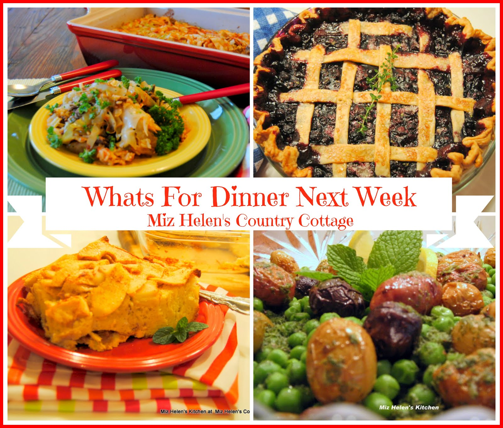 Whats For Dinner Next Week * Week of 3-07-21