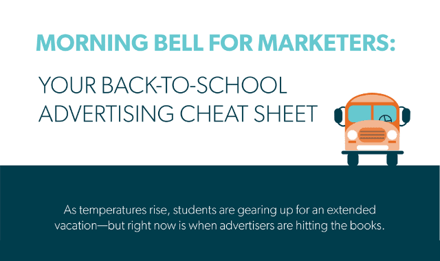 Morning Bell for Marketers: Your Back-to-School Advertising Cheat Sheet