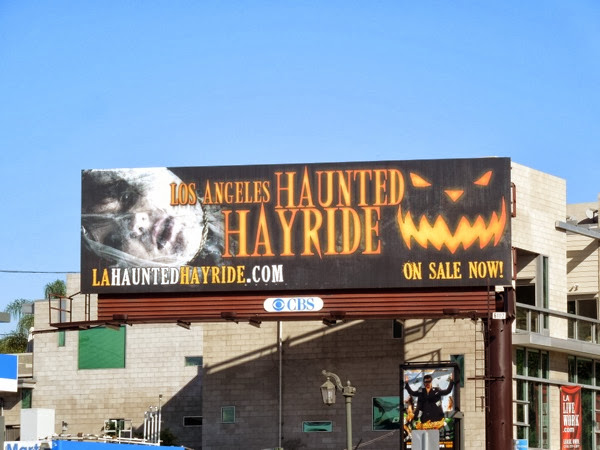 LA Haunted Hayride Halloween 2013 billboard