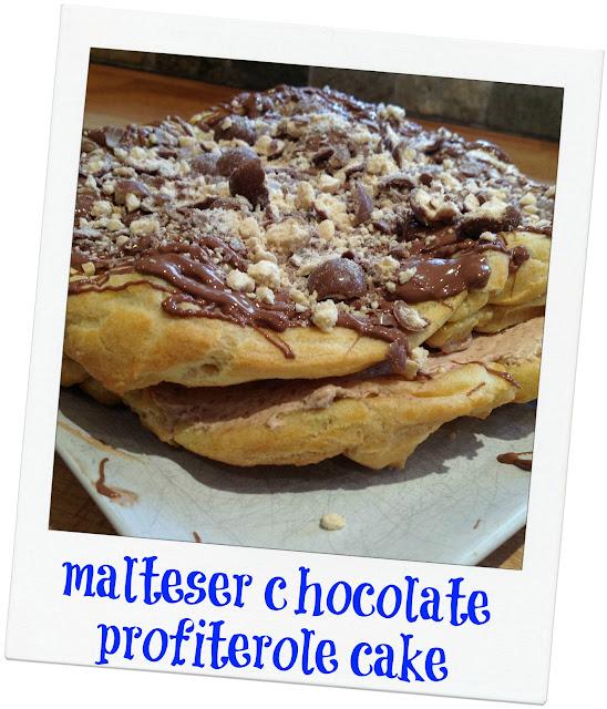 Malteser Chocolate Profiterole Cake