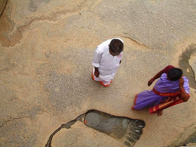 The Mystical Giant Footprint and Ancient Pyramid in Lepakshi, India