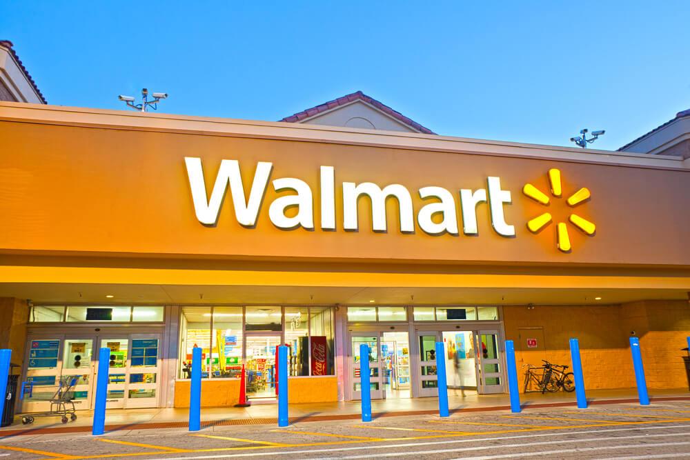 Walmart Logo with Yellow Lights