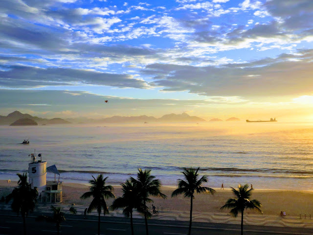 Awesome Activities in Rio de Janeiro Brazil: Watch the sunrise over Copacabana Beach
