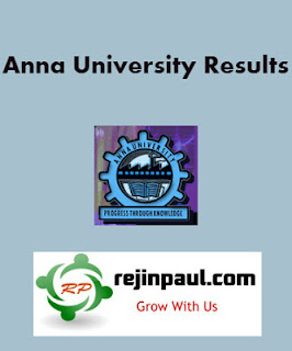 Anna University Results April May 2019 coe1.annauniv.edu