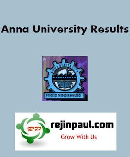 Anna University Results Nov Dec 2020 coe1.annauniv.edu