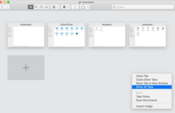 كيفية إظهار كل علامات التبويب في مدير الملفات Finder