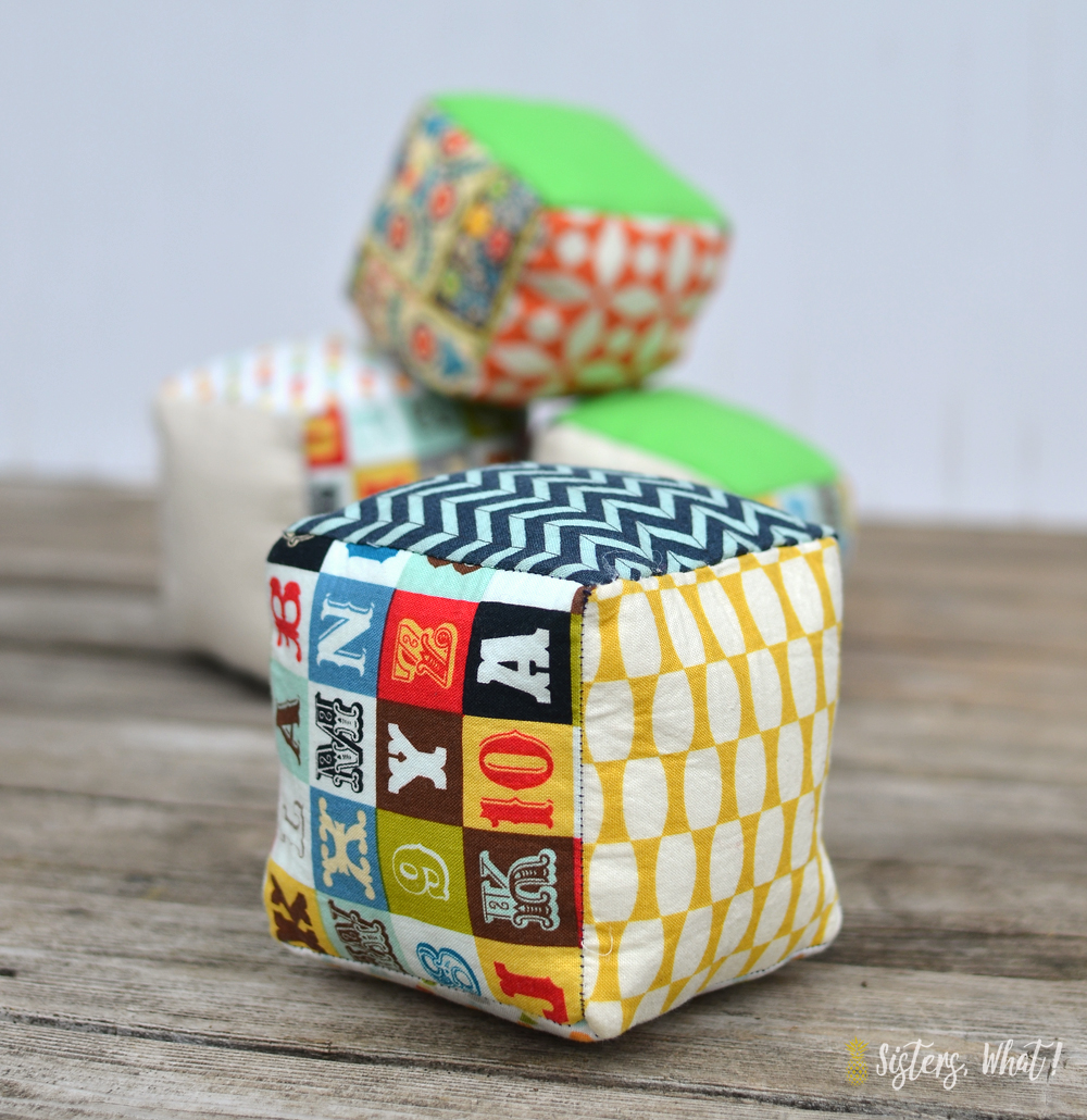 soft fabric play cubes sewing tutorial