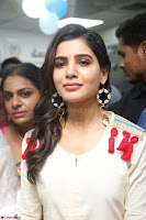 Samantha Ruth Prabhu Smiling Beauty in White Dress Launches VCare Clinic 15 June 2017 050.JPG