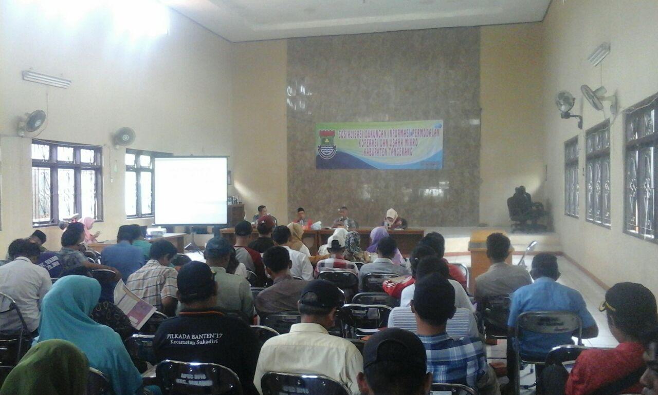 Dinas Koperasi dan Usaha Mikro Tangerang Adakan Sosialisasi di Sukadiri