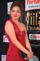 Natasha Nebasha in a Leg Slit Sleeveless Stunning Red Gown at IIFA Utsavam Awards 2017 026.JPG
