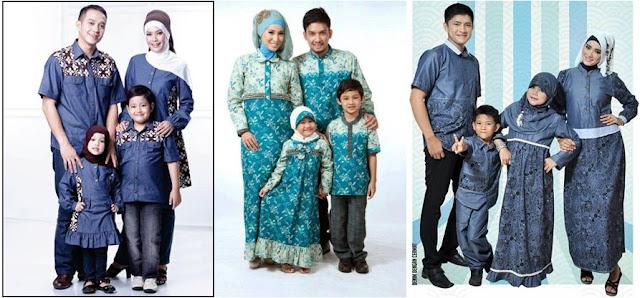 Model Baju Batik Muslim Keluarga