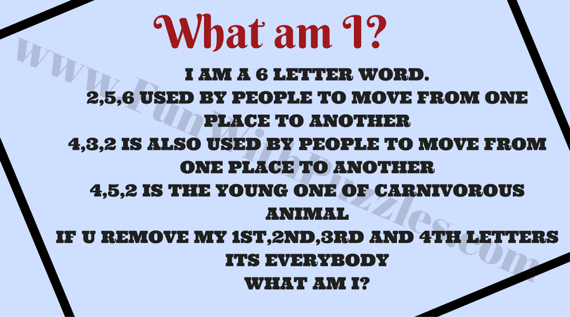 English Quick Word Riddles For Adults With Answers Fun With Puzzles