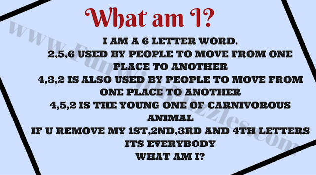 What am I? English Word Riddle
