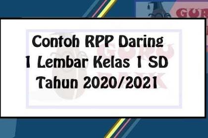 RPP K13 Daring Kelas 1 SD Tahun 2020/2021