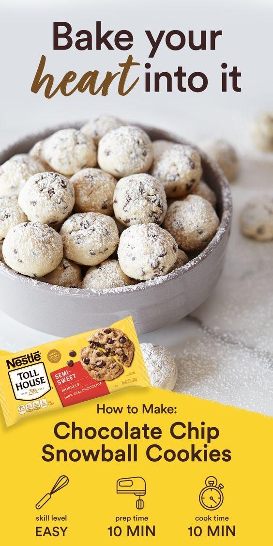 Mini Chip Snowball Cookies