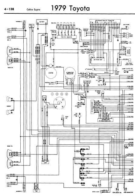repairmanuals: Toyota Celica Supra A40 1979 Wiring Diagrams