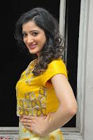 Richa Panai in Yellow Slim Fit Crop top ~ CelebxNext 002.JPG