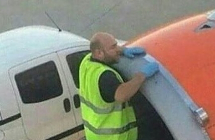 aircraft engineer using duct tape