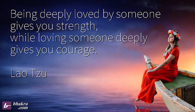 Being deeply loved by someone..