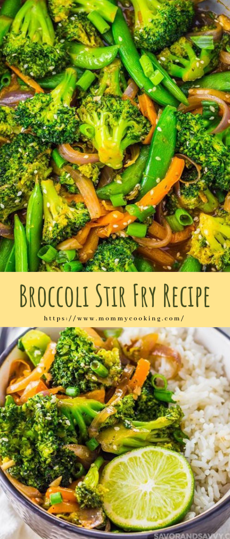 Broccoli Stir Fry Recipe #vegetarian #recipe