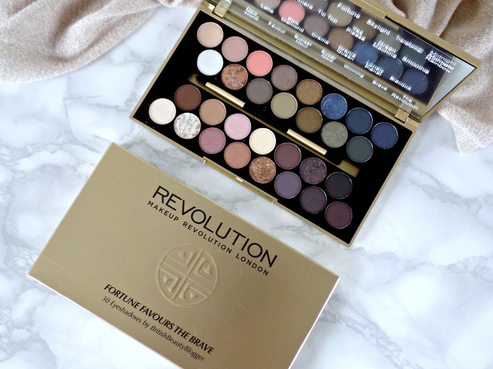 Makeup Revolution & British Beauty Blogger 'Fortune Favours The Brave' palette