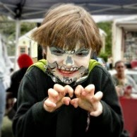 Face Painting Skull Face at Antrim NH Home Harvest - New England Fall Events