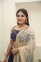 Niveda Thomas in Lovely Blue Cold Shoulder Ghagra Choli Transparent Chunni ~  Exclusive Celebrities Galleries 012.JPG