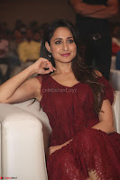 Pragya Jaiswal in Stunnign Deep neck Designer Maroon Dress at Nakshatram music launch ~ CelebesNext Celebrities Galleries 139.JPG