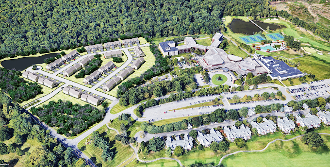 Conceptual Site Plan Render - Doral Arrowood, Rye Brook, NY