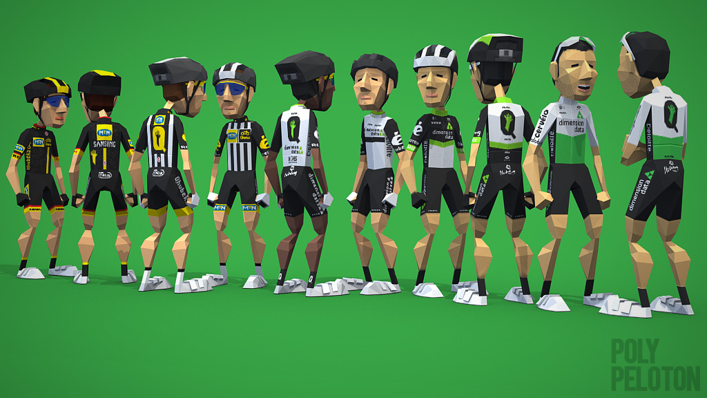 Poly Peloton  2018 Kit   Team Dimension Data 8ad4b0886