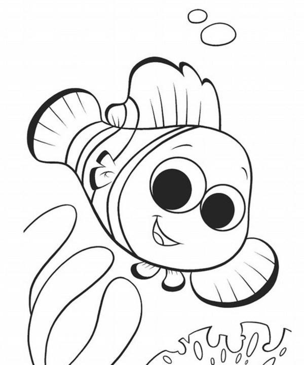 Gambar Mewarnai Sketsa Gigi Rebanas Gambartop Buku Halaman Nemo Ikan