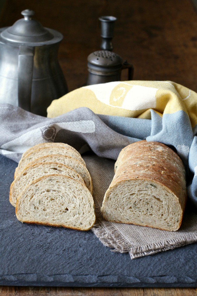 This Velvety Bean Bread with Chives is moist and flavorful, and the beans add such a smooth texture to the bread.