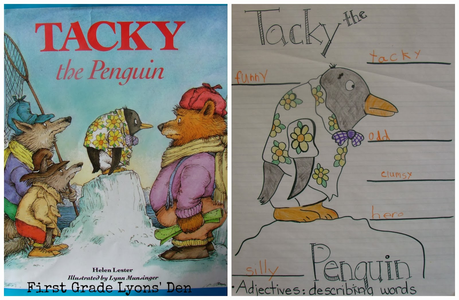 First Grade Lyons Den Tacky The Penguin