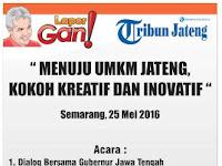 Dialog UMKM bersama Gubernur Jateng Ganjar Pranowo