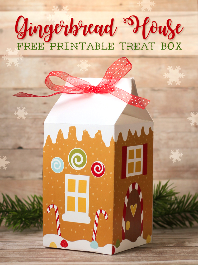 Free Printable Gingerbread House Treat Boxes | The Craft Patch