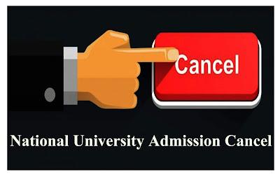 Nu Admission cancel form download | National University Admission Cancel Form | nu.edu.bd