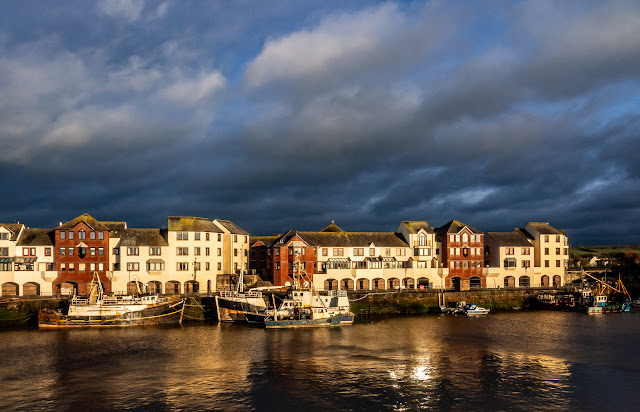 Photo of Maryport Harbour shorly before sunset