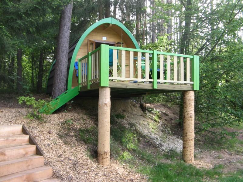 Case prefabbricate in legno for Piani di casa sul fiume su palafitte