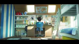 Aoyama w swoim pokoju