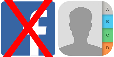 Remove Facebook Contacts from iPhone